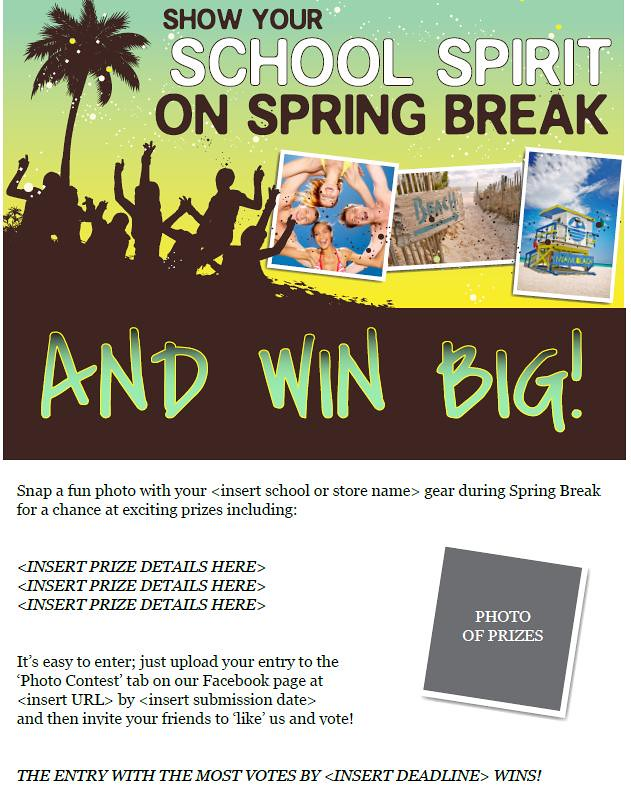 MBS Foreword Online - Spring Break Photo Contest Email
