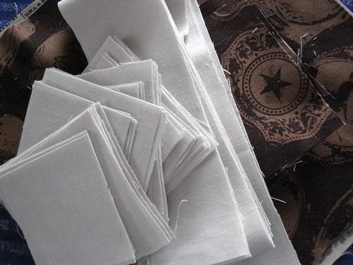 Sparkle fabrics cut