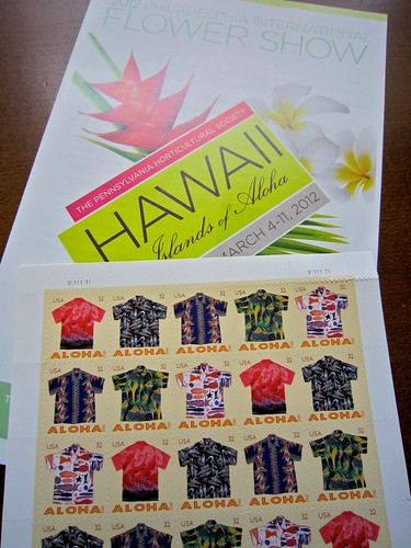 Aloha Hawaiian Shirt Stamps & Philadelphia Flower Show