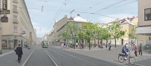 © Mettler Landschaftsarchitektur  Gestaltungswettbewerb Annenstraße, Esperantoplatz