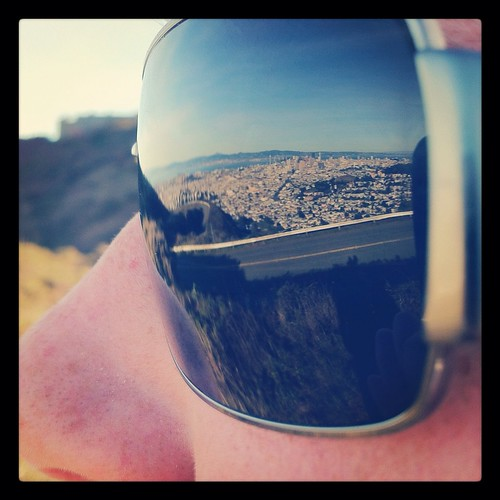 Twin Peaks View from sunglasses Reflection