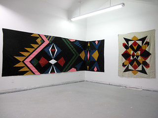 View of Studio Jan 2012 - Med & Lg pattern paintings