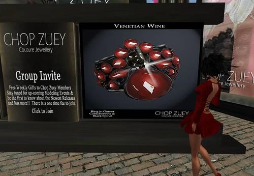 Chop Zuey Gift  - Venetian Wine Ring by Cherokeeh Asteria