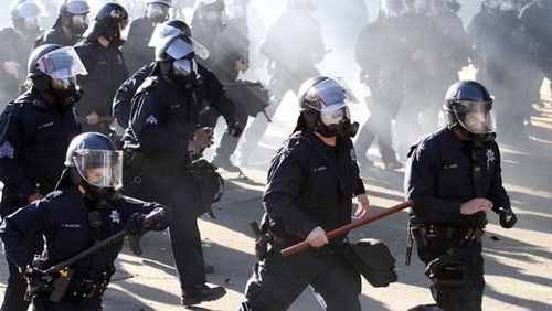 Oakland cops attacked Occupy demonstrators on January 28, 2012. The Occupy Movement has been met with repression for the last several months. by Pan-African News Wire File Photos