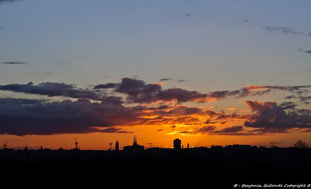 Sunset : Bordeaux : France : 01 /201279