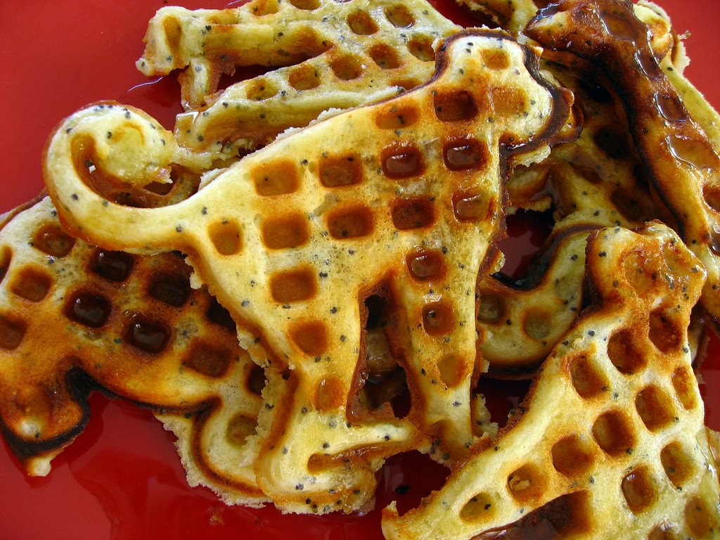 lemon poppyseed waffles