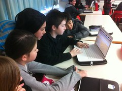 Grade 6's working on a Super Important Secret Project Challenge http://t.co/A4PVR2wv