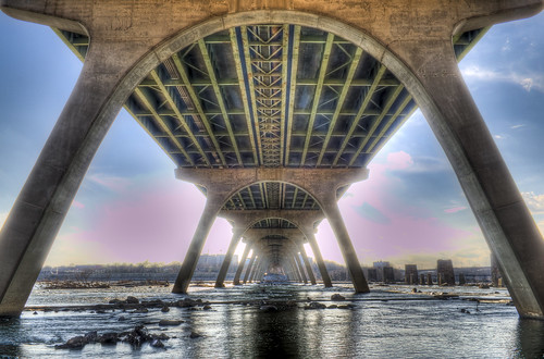 bridge sunset sky river island richmond browns hdr blinkagain
