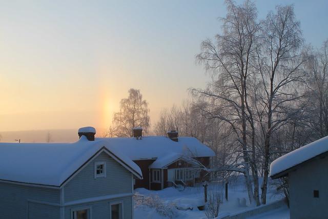 Rovaniemi, sneh, zima, tma, polárny kruh, bipolárna porucha