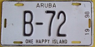 ARUBA 1998 ---BUS LICENSE PLATE