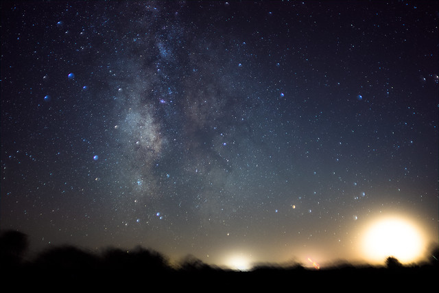 Milky Way center RAW Stack - reprocessed from 10/1/11