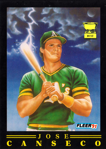 Baseball Card Bust Jose Canseco 1991 Fleer Pro Visions