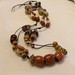 Wooden ethnic knotted necklace