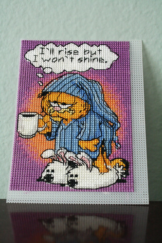 Garfield cross-stitch