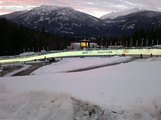 Whistler World Cup 2012 - Sunset over the track