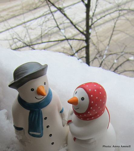 Mr and Mrs Snowman by Anna Amnell