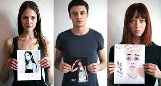 Models and their comp cards