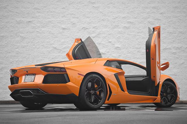 Orange Lamborghini Aventador LP700