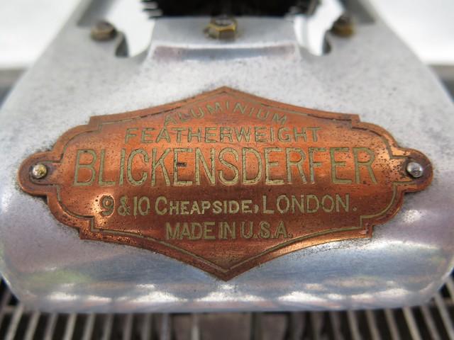 Aluminium Featherweight Blickensderfer