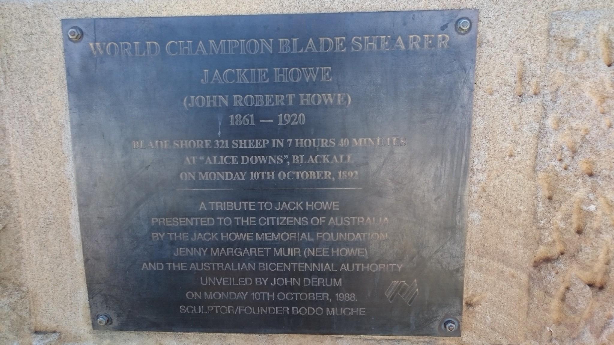 Blackall - the story of Jackie Howe