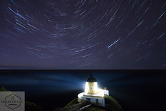 Startrails, St Abbs Lighthouse