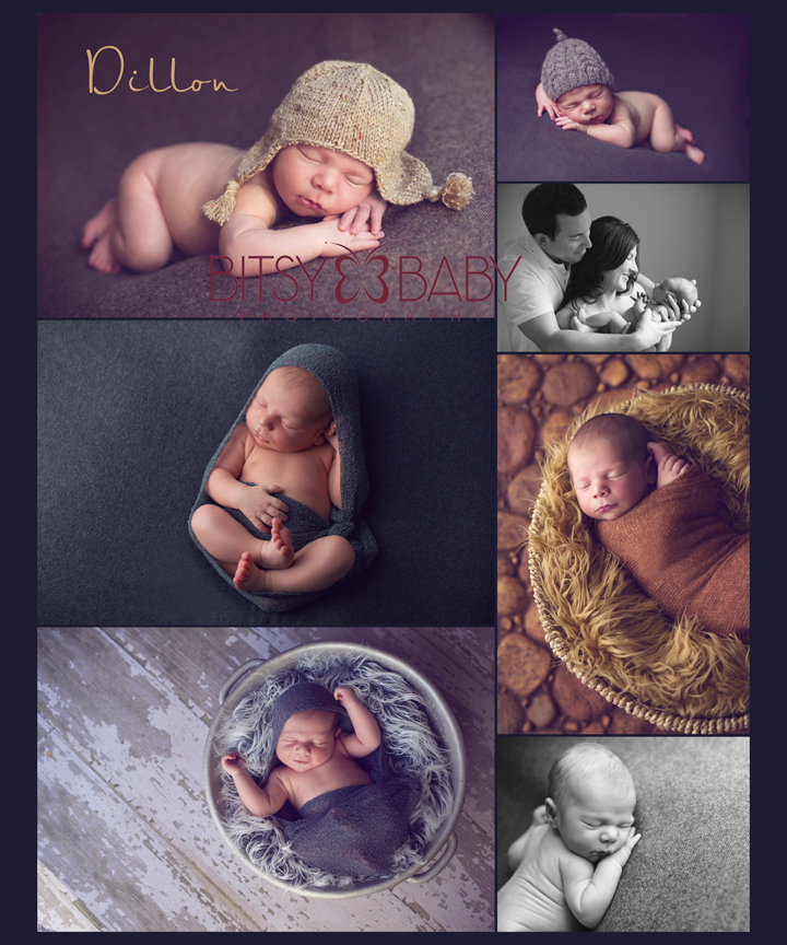 Newborn Baby Photography Collage