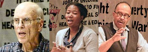 A dialogue on the capitalist crisis took place in Philadelphia. Particpants included Fred Goldstein, author of Low-Wage Capitalism, Jamila Wilson of PEACE and Dr. Anthony Monteiro, lecturer at Temple University. by Pan-African News Wire File Photos