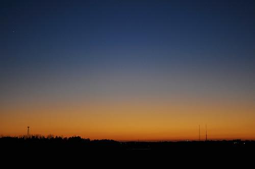 blue sunset sky orange georgia evening horizon gradient