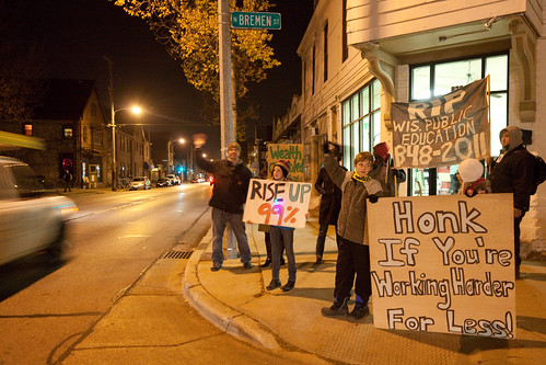 Occupy Milwaukee at Night