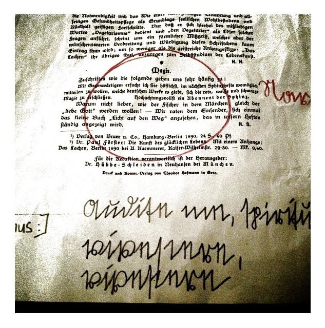 Leserbrief an Sphinx von Arthur von Riepenbreuch
