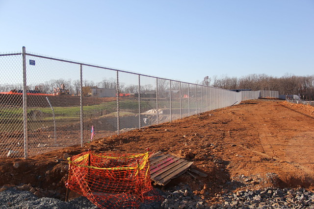 Chain link fence line construction site flickr photo