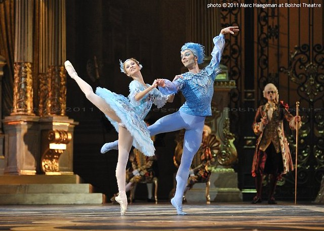 Anastasiya Stashkevich and Vyacheslav Lopatin as Florine and The Blue Bird