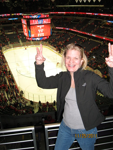 11/25/11: Gwen at the Rangers game
