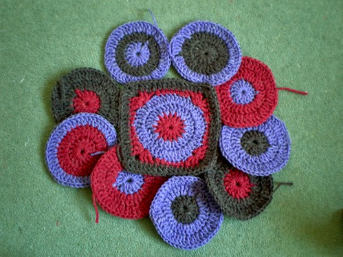 Crocheted circles