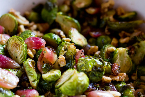 Giving Thanks: Roasted Brussels Sprouts with Grapes and ...