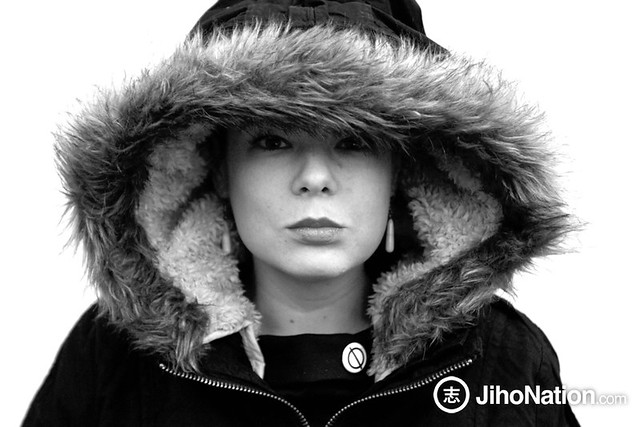 Sara Tomko in a Hood