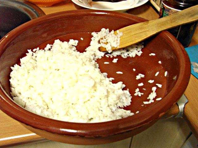 impregnar de vinagre de arroz