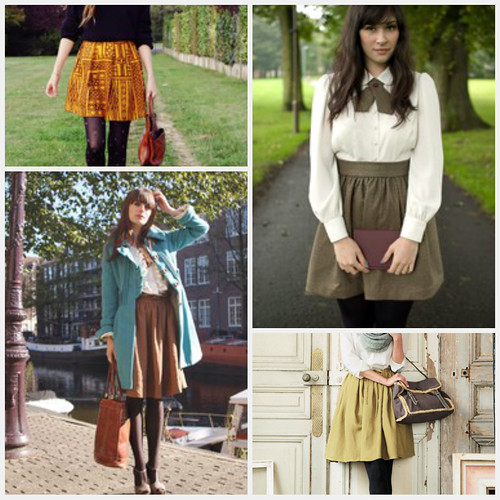 full skirt collage