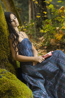 Young Romantic Woman Reading