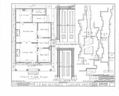 T.P. May residence, sheet 1