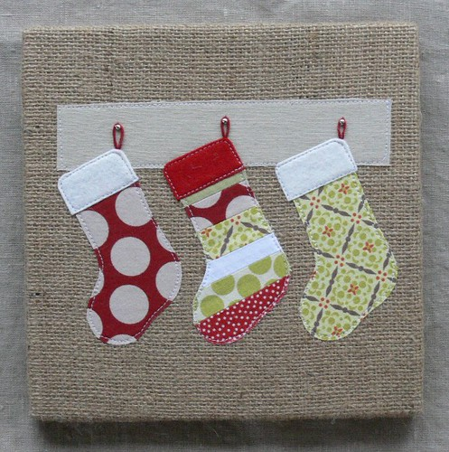 Jenny: Custom Holiday Burlap Art