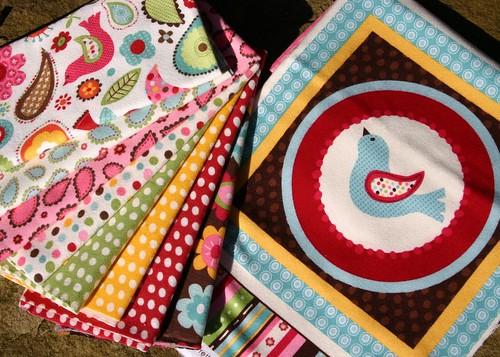 Pretty Paisley flannel fabrics