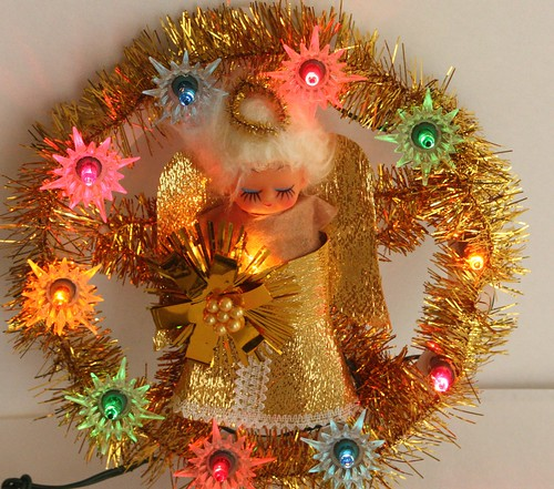 A Very Kitschy Christmas Vintage Light Up Angel Tree Topper