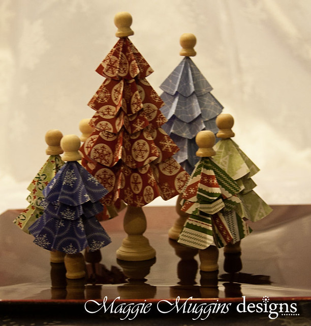 Folded Christmas Trees Decoration