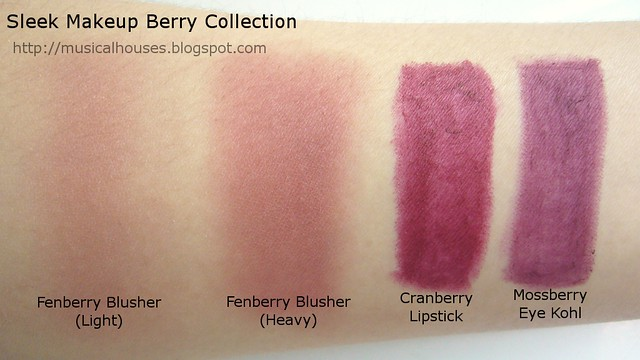 sleek berry collection swatches