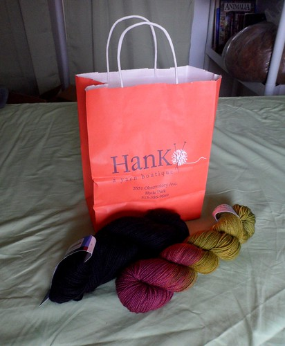 Hank Yarn Boutique Hyde Park Cinti Ohio Berocco Ultra Alpaca Blue Ridge Yarns Kaleidoscope fingering yarn hand dyed