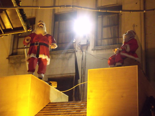 Birmingham Frankfurt Christmas Market - New Street - Advent calendar house - Santa's