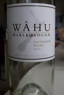 Wahu Marlborough Sauvignon Blanc 2010