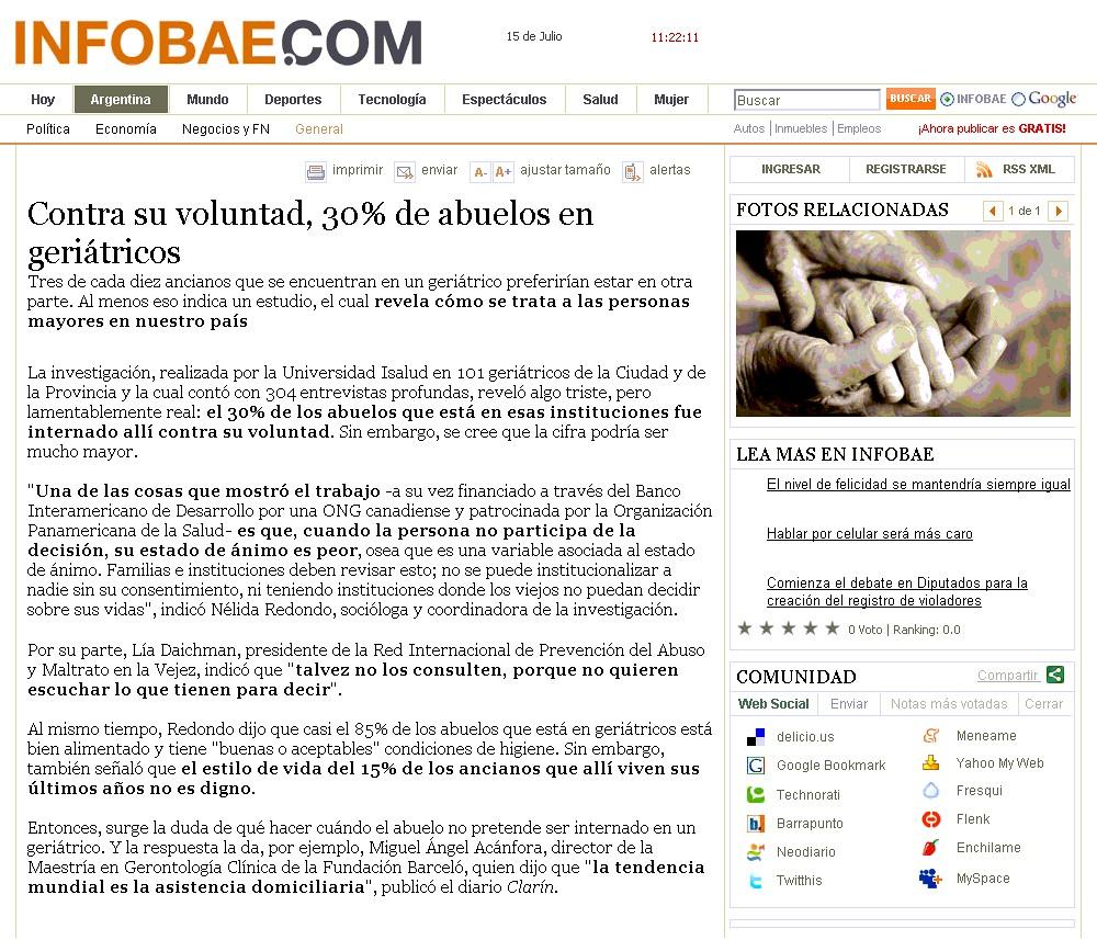 Site Infobae 15-07-08