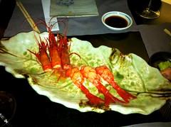 Sushi de gamba roja - Restaurante Fuku - Madrid